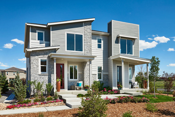 Richmond American's paired model homes at Urban Collection at Eastpoint in Commerce City, CO, make a great first impression.
