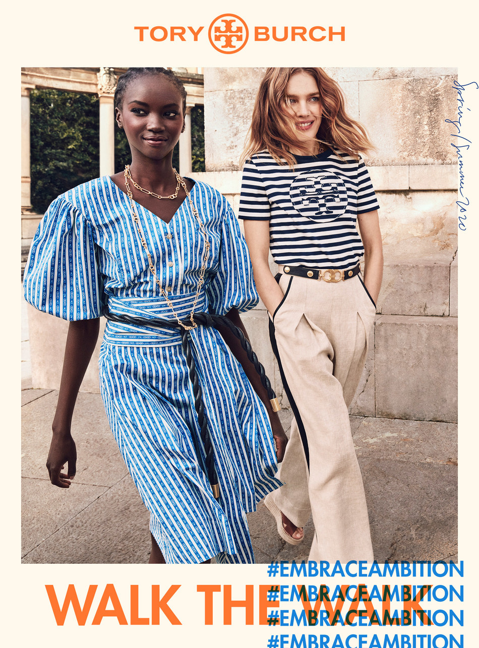 """Tory Burch Spring 2020 """"Walk the Walk"""" Campaign (photo credit: Mikael Jansson)"""