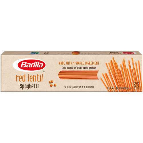 The Barilla Legume line of pasta is now available in five varieties: NEW Red Lentil Spaghetti, Chickpea Rotini, Chickpea Casarecce, Red Lentil Penne and Red Lentil Rotini.
