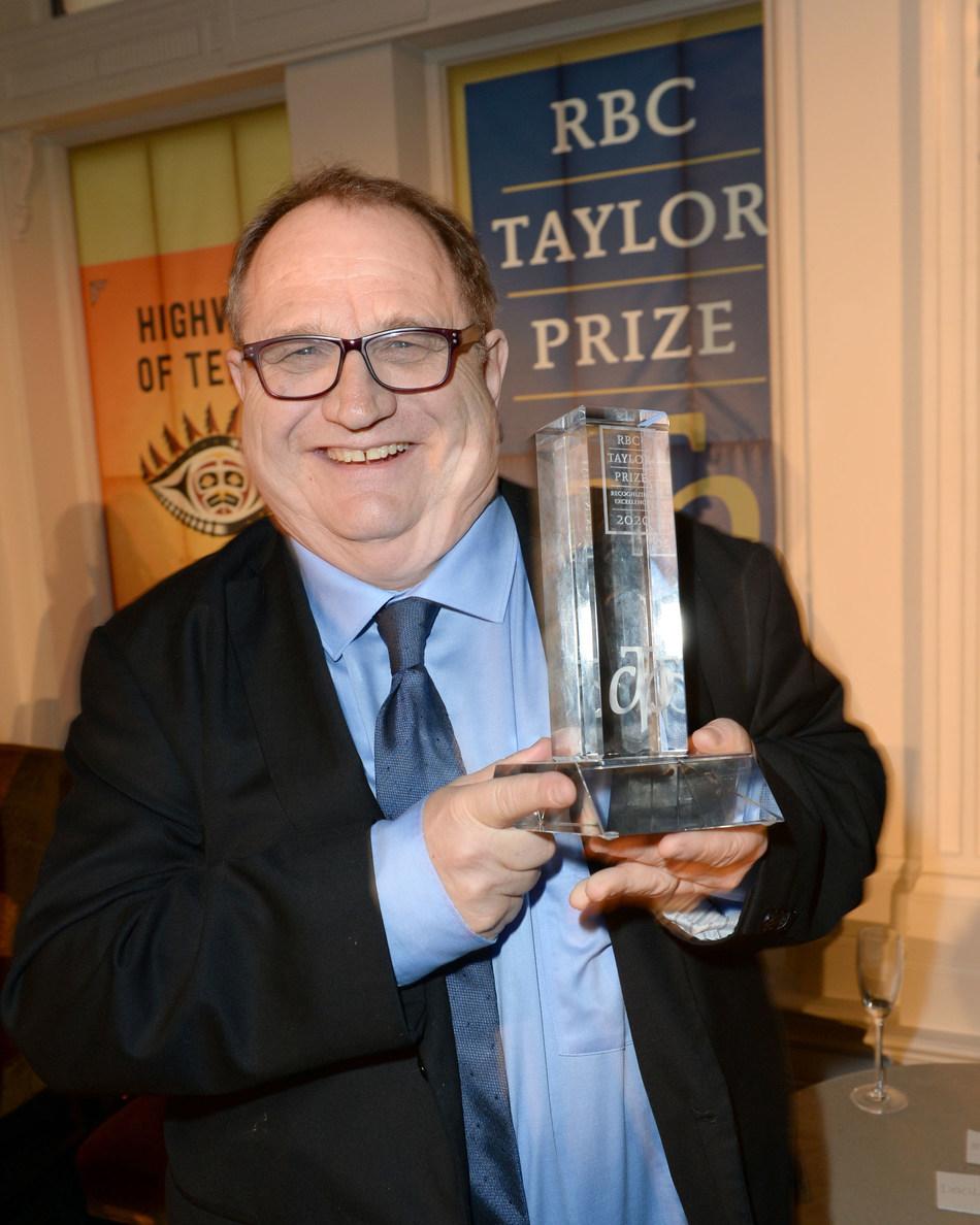 2020 RBC Taylor Prize winner Mark Bourrie for Bush Runner - PHOTO : Tom Sandler (CNW Group/Charles Taylor Prize)