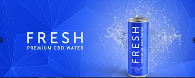 Fresh's Premium CBD Water will now come in a new 12 fluid ounce sleek can