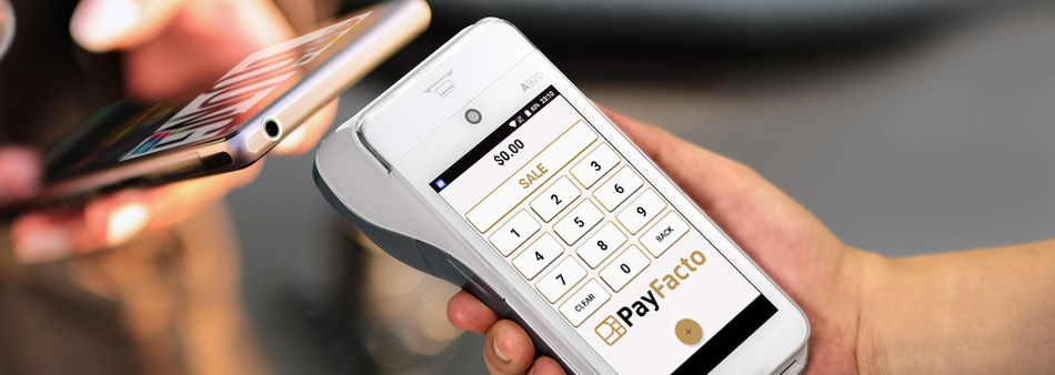 PayFacto and PAX launch the PAX A920 android payment terminals in Canada. Technology PAX A920 all-in-one next-generation ordering and payments solution specifically designed for the hospitality industry. (CNW Group/PayFacto)