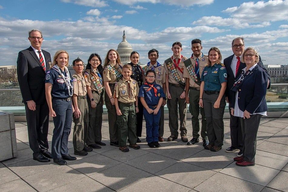 This week, 13 youth delegates from across the United States are representing the Boy Scouts of America as they deliver the organization's annual Report to the Nation, a once-in-a-lifetime opportunity for youth to present Scouting accomplishments to leaders in Washington D.C.