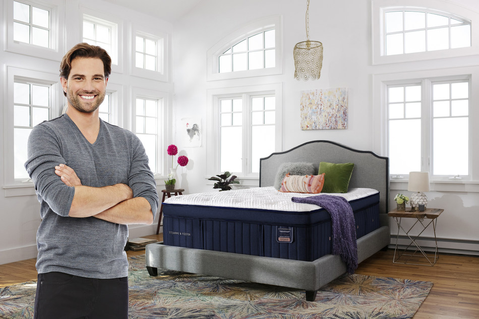 Stearns and Foster® mattress brand is excited to announce they have partnered with HGTV Star and renovation and real estate expert, Scott McGillivray (CNW Group/Stearns & Foster)