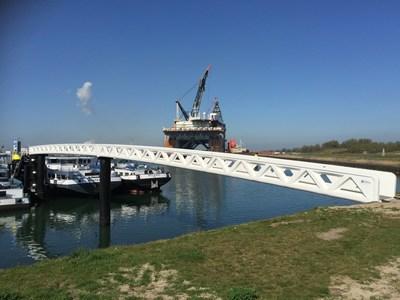 full FRP, one shot InfraCore harbor bridges, Caland Canal, Europoort NL