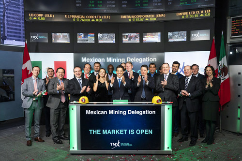 Mexican Mining Delegation Opens the Market (CNW Group/TMX Group Limited)