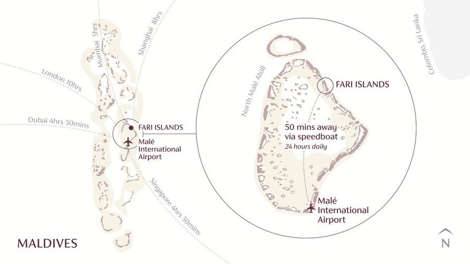 Fari Islands Location Map.