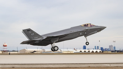 The 500th F-35 delivered by Lockheed Martin takes flight from the company's Fort Worth, Texas, factory. The multi-role fighter will be delivered to the Air National Guard in Burlington, Vermont.