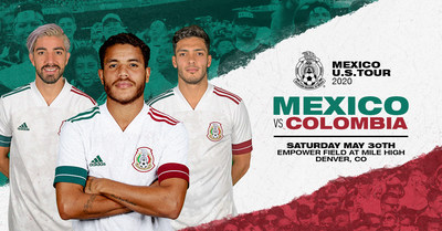 International soccer powerhouse teams, Mexico and Colombia, will play a friendly match in Denver, CO on Saturday, May 30, 2020. The event, which will take place at Empower Field at Mile High, is part of the annual Mexican National Team U.S. Tour.