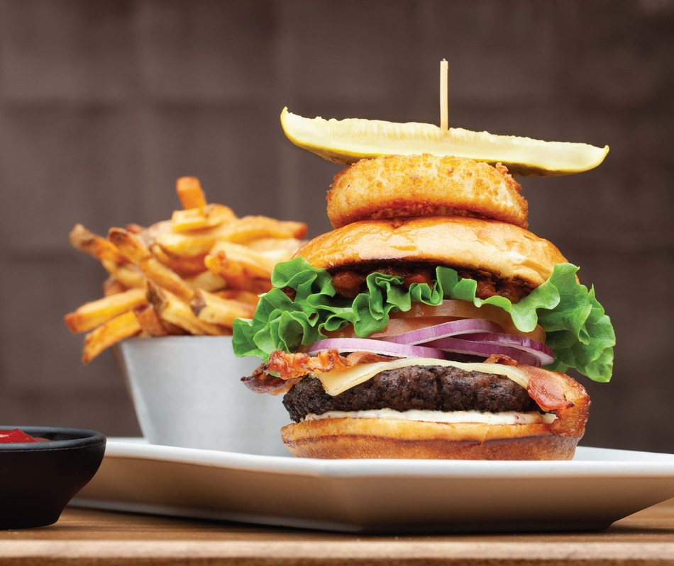 The Chop Burger is the first menu item from a full-service restaurant to receive the Canadian Roundtable for Sustainable Beef (CRSB) Certified Mark. (CNW Group/Chop Steakhouse & Bar)