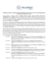 Wallbridge Continues to Outline Extensive Gold-Bearing Vein Network in Area 51 in the Hangingwall of the Tabasco/Cayenne Shear System (CNW Group/Wallbridge Mining Company Limited)
