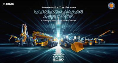 A XCMG leva sua maior exibição para a CONEXPO-CON/AGG 2020. (PRNewsfoto/XCMG)