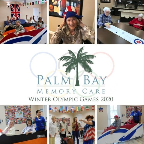 Residents enjoyed the friendly competition and tradition of competing in their own version of the 2020 Winter Olympic Games at Palm Bay Memory Care in Palm Bay, Florida.