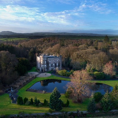 Cloncaird Castle sitting in 140 acres of Ayrshire Countryside