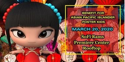 Evento benéfico de alfombra roja con celebridades para niños de acogida de las islas del Pacífico Asiático (PRNewsfoto/APAC Foster Kids)