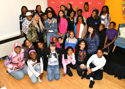 Simone Biles Visits The Lower Eastside Girls Club with SK-II