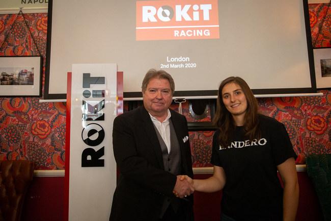 Jonathan Kendrick, CEO of the ROKiT Group and racing driver Tatiana Calderon