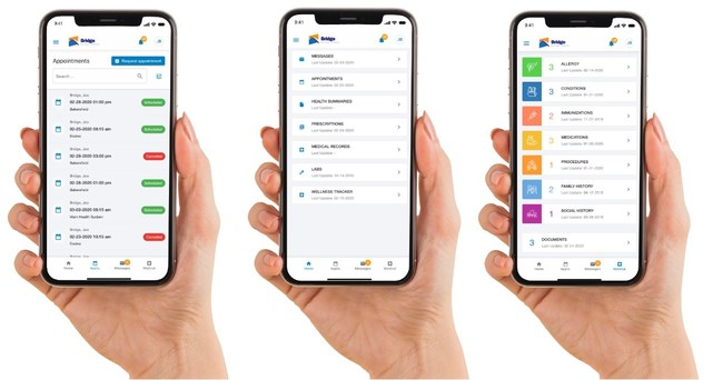 Bridge Patient Portal v3.0 gives patients a seamless web-to-mobile experience for scheduling, messaging, bill pay, intake, medical records and more