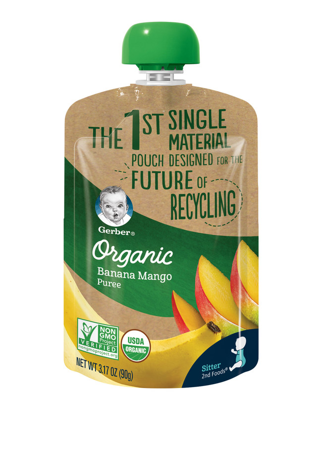 The first-of-its-kind, single-material baby food pouch is designed to increase recycling value and promote the circular economy.