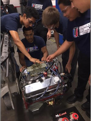 High school juniors learn hands-on during Universal Technical Institute's free summer Ignite program.