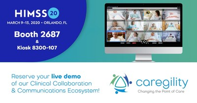 Caregility will showcase its suite of telehealth solutions and services at HIMSS Booth 2687