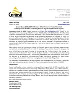 Canasil Closes $340,000 First Tranche of Non-brokered Private Placement and Prepares to Mobilize For Drilling Mexican High-Grade Silver-Gold Projects (CNW Group/Canasil Resources Inc.)