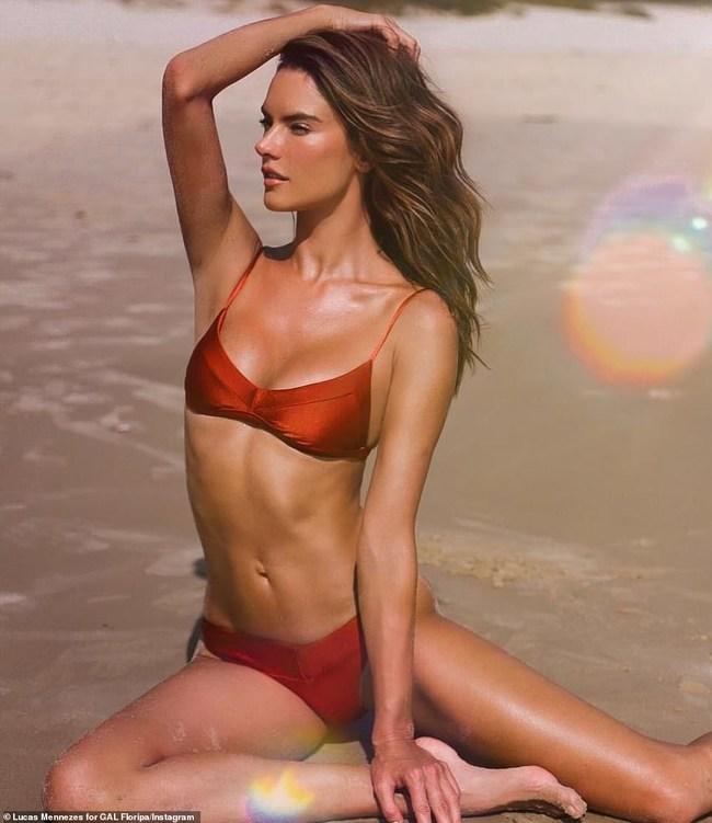 Alessandra Ambrosio in Sri Yantra Bikini