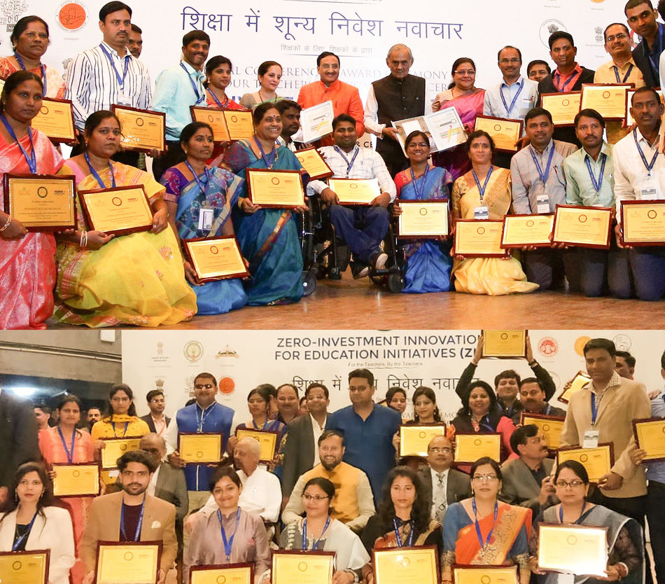 A power-packed 'National Conference and National Award Ceremony' organised by Sri Aurobindo Society and HDFC Bank. Hon'ble Minister MHRD- Shri Ramesh Pokhriyal 'Nishank' and Information and Broadcasting Minister- Shri Prakash Javadekar graced the event.