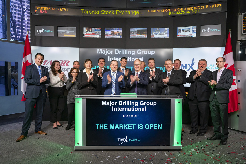 Major Drilling Group International Inc. Opens the Market (CNW Group/TMX Group Limited)