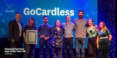 GoCardless collects the Financial Services App of the Year at the Xero Awards UK & Ireland