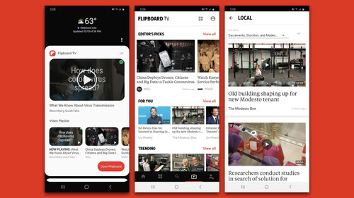 Flipboard TV debuts with 16 interest-based channels. New partnerships with The Associated Press, Bonnier Corporation, Bustle Digital Group, Digital Trends, Hearst Magazines, Lonely Planet, Mansueto Ventures And McClatchy bolster the ad-free subscription video service's programming.