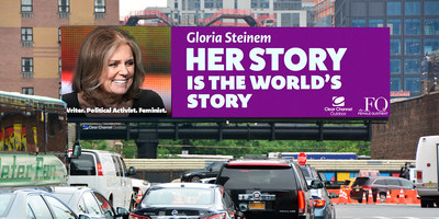Writer, political activist, and feminist organizer Gloria Steinem will be honored on digital billboards across the U.S.