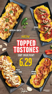Pollo Tropical® introduces new menu items including Topped Tostones and Shrimp Creole, giving Pollo fans more fresh and craveable choices.  All of the items are available now, for a limited time, at most Pollo Tropical locations.