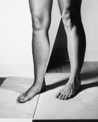 Kim Hoeckele, Legs in Contrapposto with birch and oak stage, 2018. Courtesy of the artist. (CNW Group/Scotiabank)