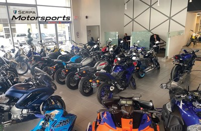 Serpa Motorsports on Yonge St. in Aurora, Ont. features Suzuki and Yamaha motorcycles, snowmobiles, wave runners and ATVs. (CNW Group/Serpa Automobile Group)