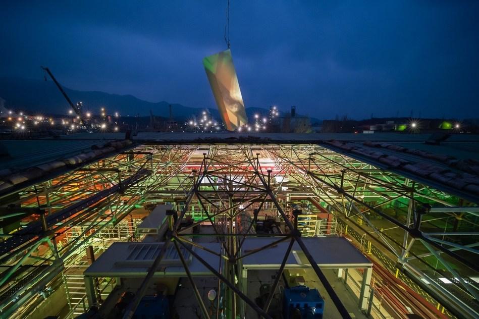 Sinopec va construire en 12 jours une usine de tissus non tissés par fusion-soufflage. (PRNewsfoto/Sinopec)