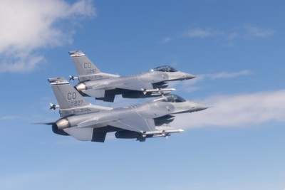 Two F-16 Fighting Falcons from the Colorado Air National Guard. Image credit: U.S. Department of Defense. The appearance of U.S. Department of Defense (DoD) visual information does not imply or constitute DoD endorsement.