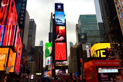 2020 Anhui promotion video is broadcast at New York Times Square.
