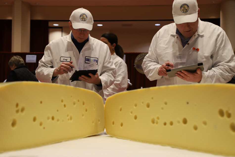 Cheese judges from around the world gathered in Madison, Wisconsin last week for the 2020 World Championship Cheese Contest. A team of 62 internationally-renowned judges technically evaluated 3,667 samples of cheese, yogurt, butter and other dairy products from 26 countries. Wisconsin cheese and dairy companies took home nearly one-third of the contest awards.
