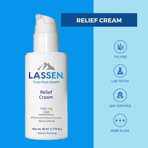 Shea butter and coconut oil soothe the skin, while a Pharmaceutical Grade Nano CBD blend, arnica, and healing botanicals penetrate deeply. Lassen Labs Relief Cream helps support healthy joints and muscles. Apply to areas of inflammation, soreness, and chronic pain.