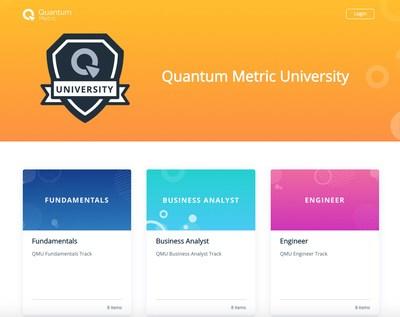 Quantum Metrics University, a customer training portal powered by WorkRamp