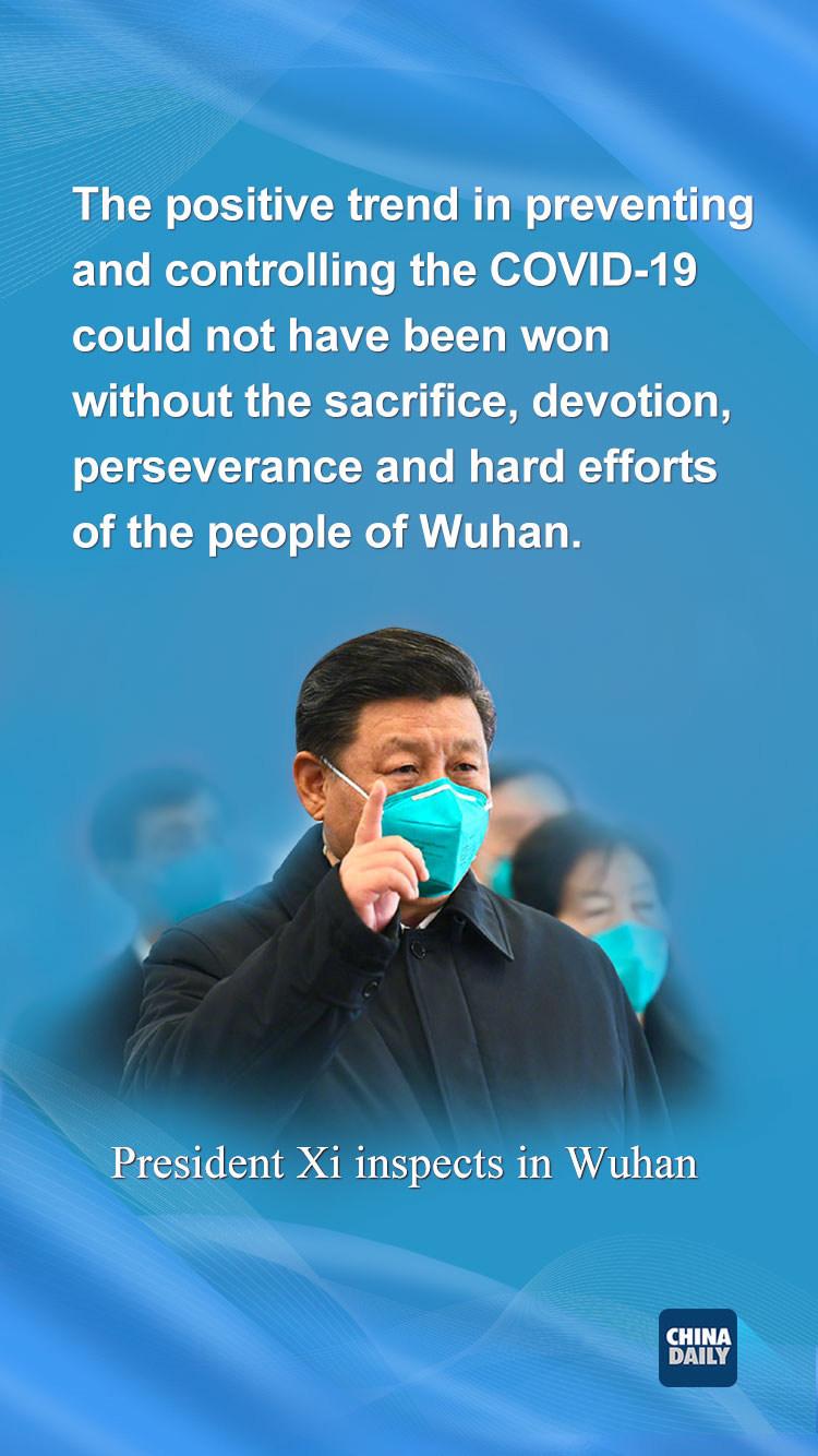 President Xi inspects in Wuhan
