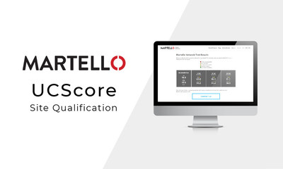 Martello UCScore web-based site qualification for unified communications deployments. (CNW Group/Martello Technologies Group)