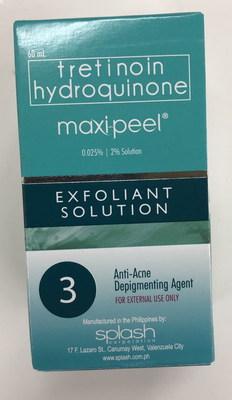 Maxi Peel Exfoliant Solution 3 (CNW Group/Health Canada)