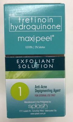 Maxi Peel Exfoliant Solution 1 (Groupe CNW/Santé Canada)
