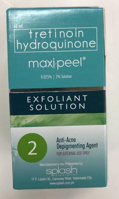 Maxi Peel Exfoliant Solution 2 (Groupe CNW/Santé Canada)