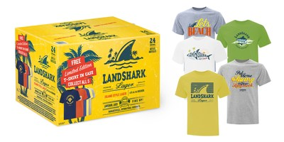 LandShark Lager - T-Shirt in Case 2020 (CNW Group/Waterloo Brewing Ltd.)