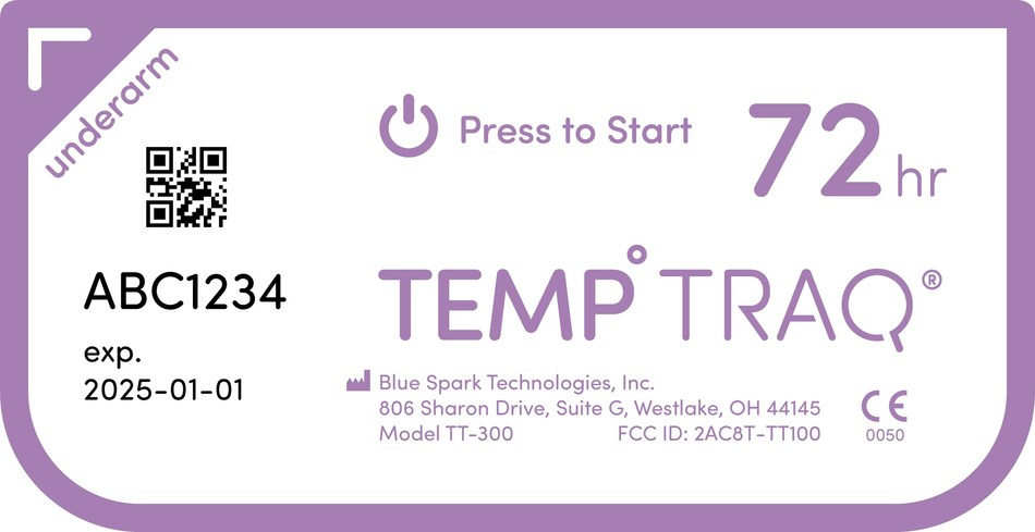 TempTraq continuously monitors and records axillary temperature and wirelessly transmits real-time data for up to 72 hours. Once placed on a patient, clinicians can remotely monitor temperatures with little-to-no direct contact.