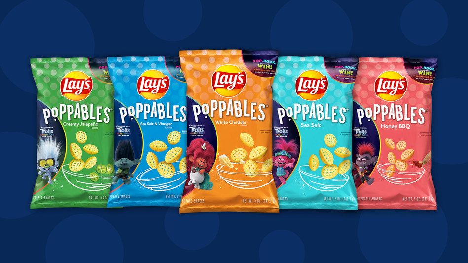 """LAY'S AND DREAMWORKS ANIMATION'S """"TROLLS WORLD TOUR"""" COME TOGETHER IN PERFECT HARMONY TO DEBUT LIMITED-EDITION LAY'S POPPABLES"""