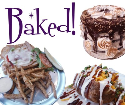Baked! Logo and menu items